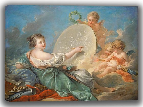 Boucher, Francois: Allegory of Painting. Fine Art Canvas. Sizes: A4/A3/A2/A1 (00148)